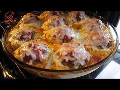 YEMEK İÇİN SABIRSIZLANACAKSINIZ😋ÖYLE LEZZETLİ BİR YEMEK OLDUKİ👌👌PATATES PÜRELİ KÖFTE TARİFİ😍😍 - YouTube Carne, Chipotle Rice, Iftar, Cooking Videos, Food And Drink, Meat, Chicken, Ethnic Recipes, Play 1