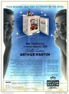 Original-Anzeige / Publicité 1957 - (en français) BELLE CUISINE / ARTHUR MARTIN - ca. 240 x 320 mm