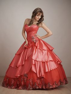 45a430c4768 Cheap Red Ball Gown Sweetheart and Strapless Bandage Floor Length Quinceanera  Dresses With Embroidery and Ruffles online sale