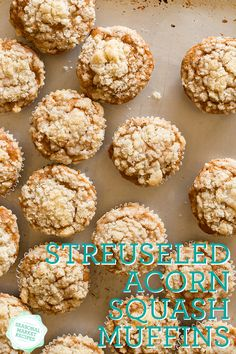 Streuseled Acorn Squash Muffins