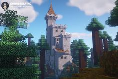 The castle in the woods 🌲🌲🌲 : Minecraftbuilds Minecraft Images, Minecraft Medieval, Minecraft Plans, Minecraft House Designs, Minecraft Tutorial, Minecraft Blueprints, Cool Minecraft, Minecraft Crafts, Medieval Castle