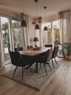 Dining Room Inspiration, Home Decor Inspiration, Home Living Room, Living Room Decor, Small Living Rooms, Modern Living, Dining Room Design, House Rooms, House Design