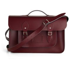 "The Cambridge Satchel Company Upwardly Mobile Satchel in Oxblood - 15"" ($175) ❤ liked on Polyvore"