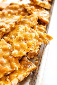 Making my GRANDMA'S PEANUT BRITTLE is one of my favorite holiday traditions. This classic treat of salty-sweet perfection, is surprisingly easy to make.