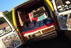 @van_grrrl - Pinterest Van Dwelling, Small Rv, Van Living, Camper Interior, Life Pictures, Camper Van, Van Life, Motorhome, Campers