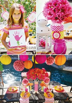 Colorful & Modern Mother's Day Lunch {+ Free Printables} from Hostess Blog     pinned by Sweet Event Design  www.sweeteventdesign.com  theme:  party printables, chevron  occasion:  mothers day  colors:  pink, orange