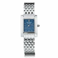 """Johns Hopkins University Women's Swiss Watch - Blue Quad Watch with Bracelet by M.LaHart & Co.. $299.00. Three-year warranty.. Officially licensed by Johns Hopkins University. Swiss-made quartz movement with 7 jewels.. Classic American style by M.LaHart. Attractive M.LaHart & Co. gift box.. Johns Hopkins University women's steel watch featuring Johns Hopkins seal at 12 o'clock and """"Johns Hopkins University"""" inscribed below on the blue dial. Swiss-made quartz movement w..."""