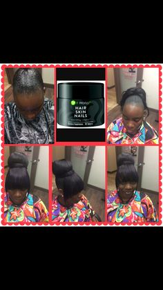 Protective style with it work hair, skin & nails vitamins