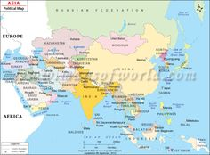 Political Map Of Asia Continent.18 Best Geography Images Continents World Maps Asia Map