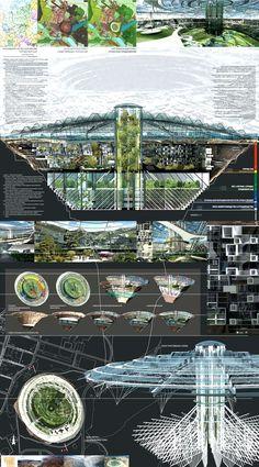 Cross-Section through a City of the Future.  #FutureCity
