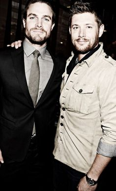 Stephen Amell AND Jensen Ackles Yes, please. This is my dream. Sexiest picture ever ♥♥♥