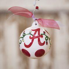 Alabama Ball Ornament Www.chocolateshoeboutiquefl.com
