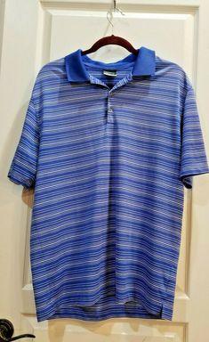 4acc34a3 Nike Golf Dri-Fit Victory Stripe Polo blue Nike Dri-FIT 100% polyester