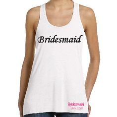 Bridesmaid Glitter white Racerback Tank Tops by BridesmaidTank