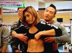 I just quickly glanced this, but I had to look it again. Why? Because I really thought they were lifting a girl's shirt XD But it only turned out to be our girly Ren :'D