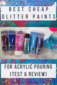 Since the were discontinued (a tragedy for pouring artists) I've been trying to find glitter paints to replace them, that Glitter Paint Acrylic, Acrylic Painting Tips, Acrylic Tips, Acrylic Pouring Art, Pour Painting, Diy Painting, Acrylic Paintings, Acrylic Art, Blow Paint