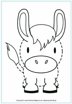 Donkey tracing printable