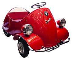 BMW Isetta Child Pedal Car  V&M #: 107668  contact dealer for price  Boy if this baby had an engine, I would be all over the sidewalk in it!