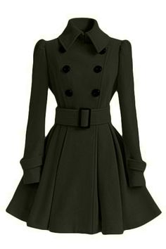 ******CLEARING***** Fit and Flare Peacoat Join Sammydress NOW Get YOUR $50 and a chance to GET THIS FOR FREE!!
