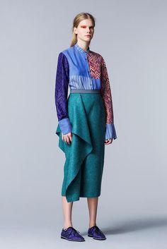 38b545ad919 Roksanda Ilincic Pre-Fall 2014 Trunkshow Look 24 on Moda Operandi like the  draping of the wool skirt