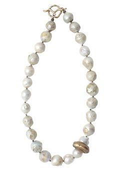 Sea Salt Baroque Pearl Necklace