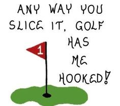 Golf magnet - Golfing quote Humorous golfer saying, putting green, flagstick