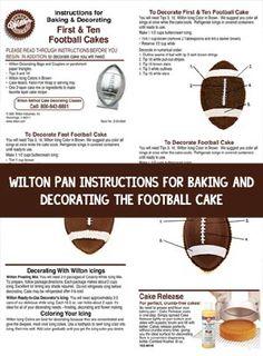 Football Cake Birthday Cakes Redskins Wilton Click To Sports