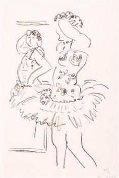 Henri Matisse (French, Fauvism, Danseuse au miroir, Lithograph on Japan paper Matisse Drawing, Matisse Paintings, Henri Matisse, Drawing Sketches, Drawings, Plastic Art, Global Art, French Artists, Art Market