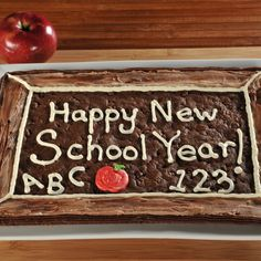 Blackboard Cookie, YUM! Make a special treat to celebrate a new school year! www.shopsophies.com for personalized back to school items.