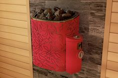 Scandifire heater has a marvelous design. This heater is a red centre of your sauna. Covered with velvet, which just warms up but doesn't burn.