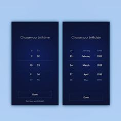 Time & Date pickers!  #ui #ux #design #ios #mobile #interfaces #sketch…