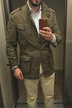 Safari style - field jacket and khakis