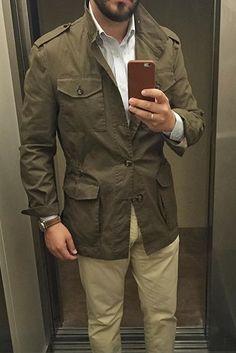 Safari style - field jacket and khakis
