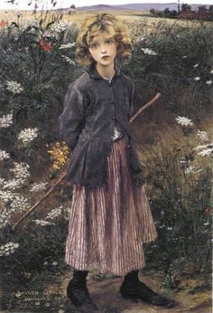 Jules Bastien-Lepage, Young Girl, 1882.   I love the facial expression