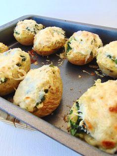 Patatas rellenas de pollo y kale | Receta de aprovechamiento