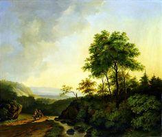 Cornelis François Roos  Gezicht in het Harzgebergte (1840)