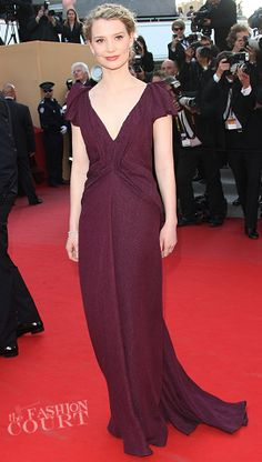 Mia Wasikowska in J. Mendel at the 2012 Cannes Film Festival