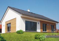 Bungalov Jubileum Profi 96 Bungalow Extensions, Roof Overhang, Atrium, House Front, Interior And Exterior, Home Furniture, Building A House, Facade, Beach House