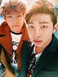 rapmon and taehyung's twitter update (the kim siblings :3)