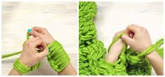 Hand Knit Your Own Infinity Scarf in 30 Minutes