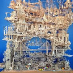 """Toothpick architecture (105,387.5 of 'em to be exact)""—Diana Budds"