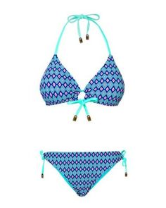 Gemelli Dolly Mix Plunge Bikini with Reversible Loop Bottoms Blue