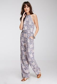 Abstract Paisley Print Jumpsuit | Forever 21 - 2049257705