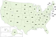 Info for each state. all about agriculture