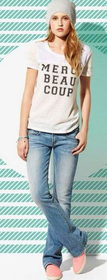 Click Pic for 35 Cute Spring Outfits - Boyfriend Jeans- Spring Outfits for Teen Girls