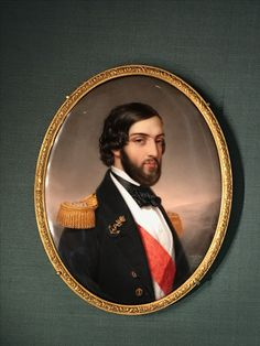 Title: François Orléans, Prince de Joinville Date: mid-19th century Artist: Sophie Lienard French, active 1842–1845 Medium: enamel on porcelain Dimensions: image (by sight): 5 9/16 x 4 5/16 in. (14.2 x 10.9 cm) framed: 6 1/16 x 4 3/4 in. (15.4 x 12. Ferdinand Philippe (1810-1842), Duc de Chartres (1810-1830) and Duc d'Orléans (1830-1842)