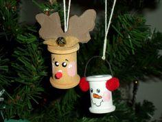 Cotton reel tree decorations