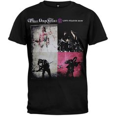 Three Days Grace - Splashback Saskatoon Tour T-Shirt