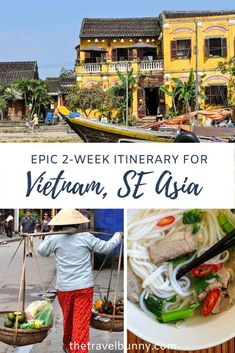 Epic Vietnam Itinerary - Travel guide to Vietnam with 2 week itinerary. The best things to do, what to see and where to stay in Vietnam. Travelling north to south stopping at Hanoi, Halong Bay, Hue, Hoi An and Ho Chi Minh City. #Vietnam #itinerary #SEAsia #travelguide