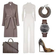 """""""Untitled #111"""" by madebyaliciap ❤ liked on Polyvore featuring Body Editions, Yves Saint Laurent, L.K.Bennett, Louis Vuitton, Christian Louboutin, Lafayette 148 New York and Skagen"""